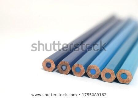 Hideg színesceruza kilenc szett absztrakt ceruza Stock fotó © nuttakit