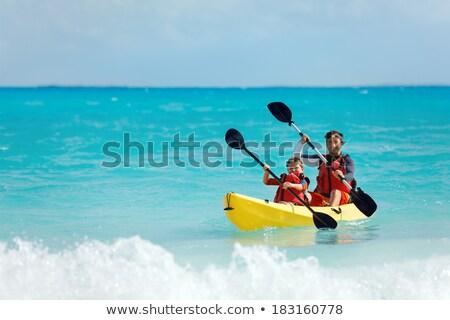 отцом сына морем небе ребенка спорт Сток-фото © galitskaya
