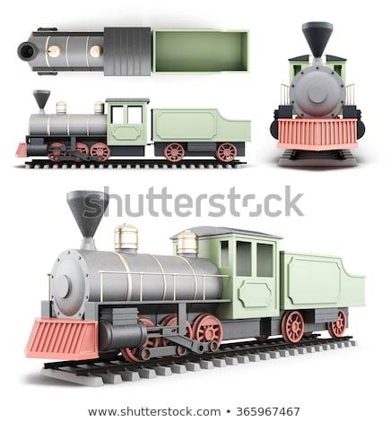 Diesel lokomotywa pociągu front widoku retro Zdjęcia stock © patrimonio