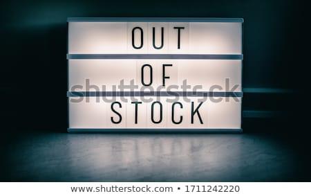 Fora estoque armazenar assinar Foto stock © Maridav