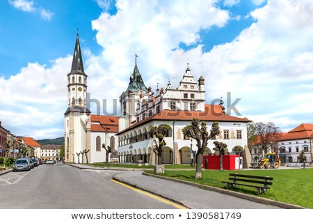 Oude binnenstad hal Slowakije hoofd- vierkante stad Stockfoto © borisb17