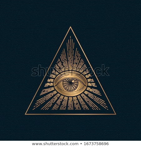 All-seeing Eye Icon Vector Outline Illustration Stock photo © pikepicture