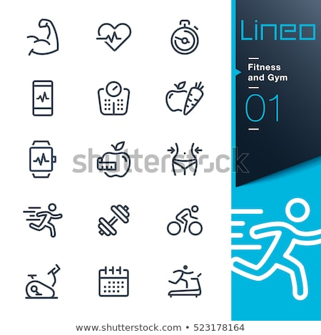 Fitness sport objets balle bouteille Photo stock © Winner
