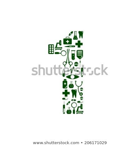 medical font health pills word stock photo © arsgera