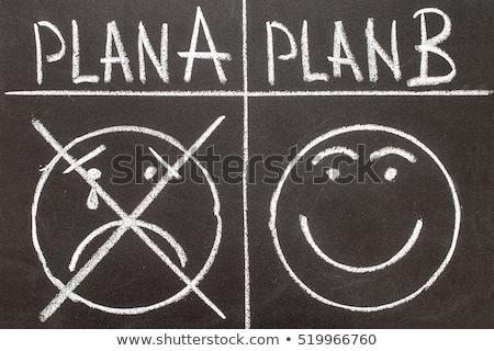 Plan b написанный белый мелом доске бизнеса Сток-фото © latent