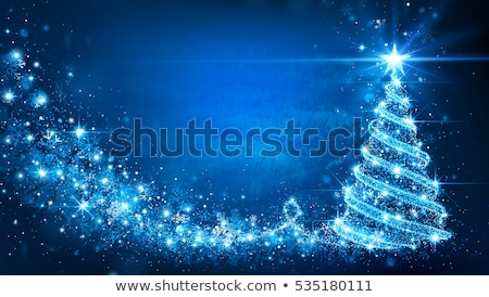 white christmas tree in blue stock photo © marinini