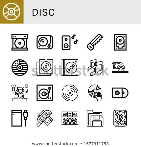 software · portátil · cd · bandeja · oficina · trabajo - foto stock © leeser