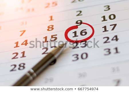 Date calendrier bleu temps rouge couleur Photo stock © latent
