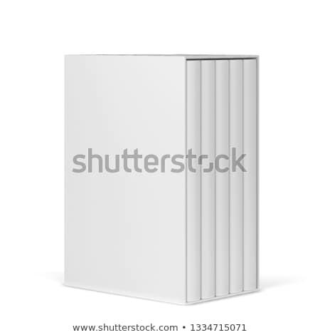 Boeken geïsoleerd witte papier boek Stockfoto © Raduntsev