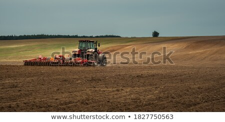 agriculture in the twilight of work fall stock photo © oleksandro