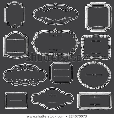 retro · címkék · darabok · aranyos · papír · izolált - stock fotó © HypnoCreative