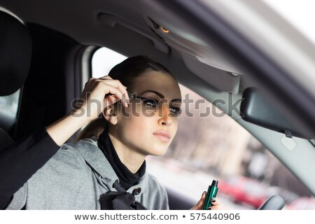 Vrouw mascara auto gezicht mode paar Stockfoto © photography33