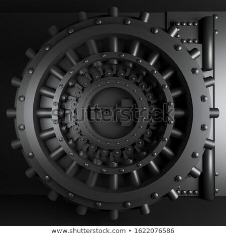 fém · széf · 3D · renderelt · biztonság · pénzügy - stock fotó © garyfox45116
