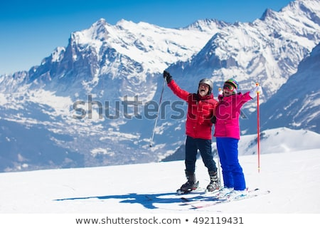 senior couple skiing Stock photo © photography33