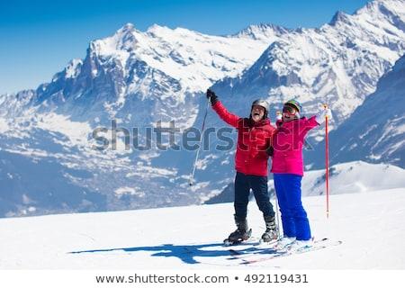 человека · лыжах · оранжевый · куртка · лифт · спорт - Сток-фото © photography33