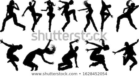 Stockfoto: Silhouet · hip · hop · danser · witte · hand · kunst