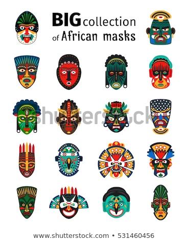 Büyük Afrika maske stüdyo fotoğrafçılık ahşap Stok fotoğraf © prill