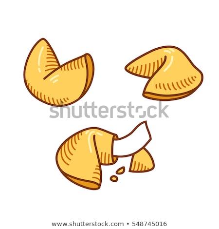 Fortune cookie puste papieru tekst żywności czarny chińczyk Zdjęcia stock © dehooks