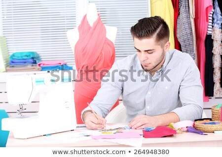 Man making a sketch Stock photo © photography33