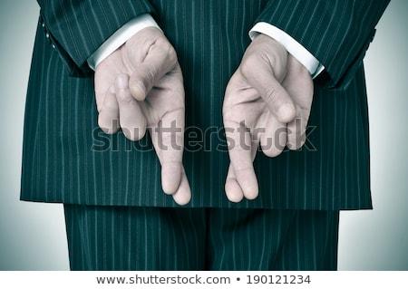 человека · бизнеса · костюм · пальцы · бизнесмен - Сток-фото © photography33