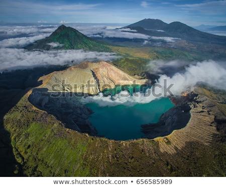 кратер Индонезия пейзаж озеро Blue Sky рок Сток-фото © vichie81