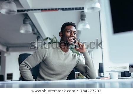 jovem · empresário · chamar · negócio · trabalhar - foto stock © photography33