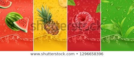 friss · görögdinnye · étel · piros · fehér · édes - stock fotó © M-studio