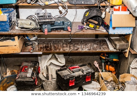 Workshop mess home auto stanza rotto Foto d'archivio © smithore