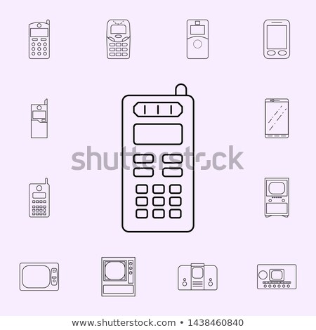 Set Of Three Generation Cellphones Stock photo © Art studio G