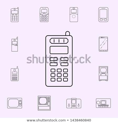 Set Of Three Generation Cellphones Foto stock © Art studio G