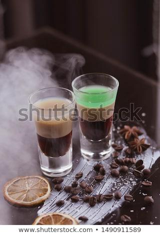 Coquetel isolado branco água beber limão Foto stock © smoki