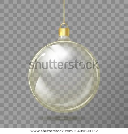 Christmas ilustracja błyszczący szkła piłka płatki śniegu Zdjęcia stock © articular
