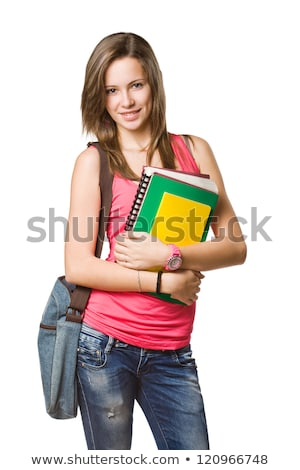 Stock photo: Gorgeous confident young student woman.