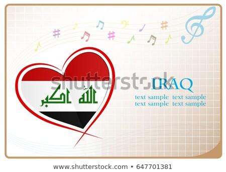 Görüntü kalp bayrak Irak Stok fotoğraf © perysty