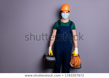 electrician carrying cable and tool box stock photo © photography33