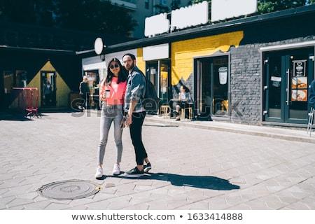 Goed kijken paar uit stad man vrouw Stockfoto © cr8tivguy