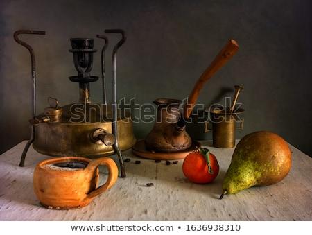 Anciens café moulin laiton fond Photo stock © gromovataya