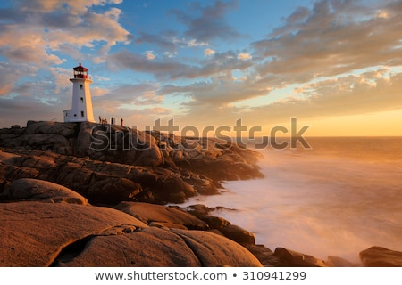 peggys cove lighthouse stock photo © sumners