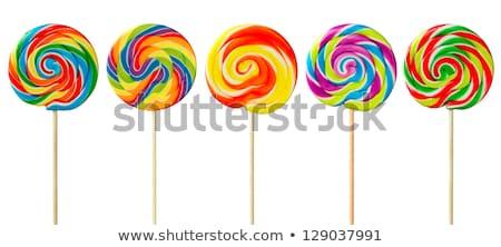 spiraal · lolly · kleurrijk · geïsoleerd · witte · oranje - stockfoto © shutswis