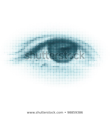 abstract halftone digital eye eps 8 stock photo © beholdereye