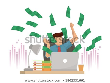 A businessman with plenty of cash. Stock photo © photography33
