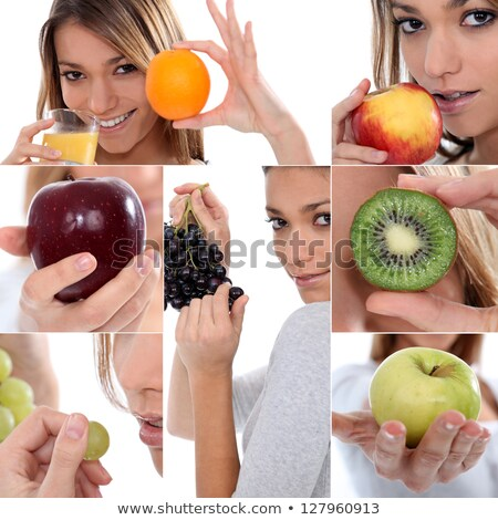 Mosaic of woman with various fruit Stock photo © photography33