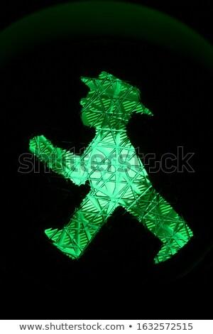 The green Ampelmann in Berlin Stock photo © jakatics