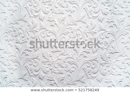 Floral relief on wall Stock photo © HypnoCreative