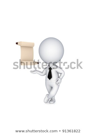 3d small people   scroll the page stock photo © anatolym