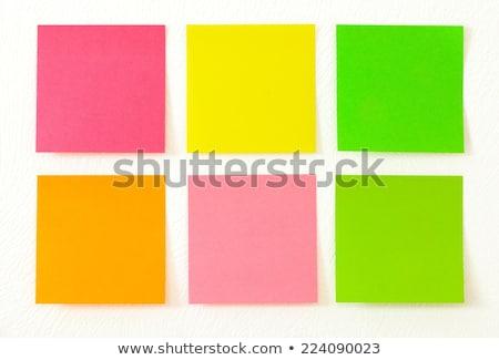szín · fehér · narancs · zöld · notebook · óriásplakát - stock fotó © wavebreak_media