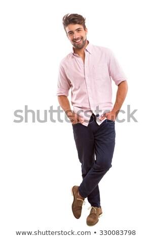 Foto de moda hombre guapo piel mano Foto stock © konradbak