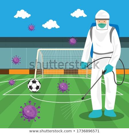 Futbol şırınga spor tıp grup top Stok fotoğraf © Koufax73