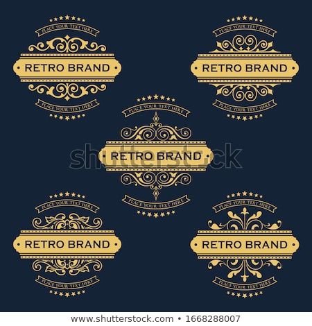Vintage etichetta design oro retro sfondi Foto d'archivio © Alessandra