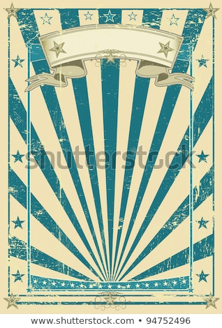 circus blue vintage poster stock photo © tintin75